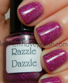 Love this colour and the glitter in it!
