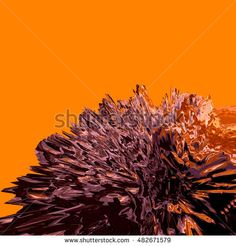 Background of glitch manipulations with 3D effect. Abstract landscape with sharp peaks in orange and purple shades. It can be used for web design and visualization of music.