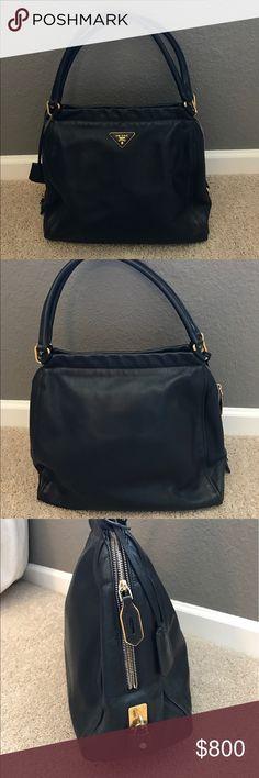 Prada shoulder bag Black leather Prada bag in excellent condition Prada Bags Shoulder Bags