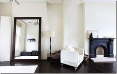 Big mirrors add light and illusion... see sparse and other looks