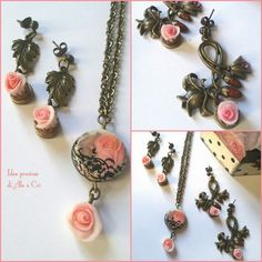 "Collana / necklace - orecchini /earrings ""Idee Preziose di Ale e Cri"""