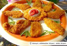 Rántott hús liszt tojás zsemlemorzsa nélkül Diabetic Recipes, Meat Recipes, Gluten Free Diet, Main Meals, Healthy Cooking, Tandoori Chicken, Food To Make, Main Dishes, Paleo