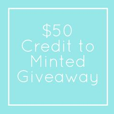 $50 Minted Giveaway
