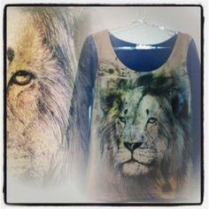 Camisetas de manga longa com estampas de animal print