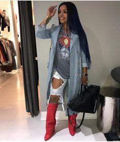 PINNED BY: @LOVEMEBEAUTY85 Black Girl Fashion, Cute Fashion, Fashion Looks, Chic Outfits, Fall Outfits, Fashion Outfits, Womens Fashion, Fashion Ideas, Fashion Killa