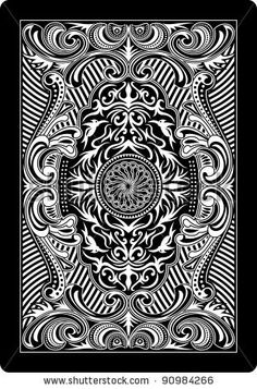 playing card back side - stock vectorhttp://www.shutterstock.com/pic.mhtml?id=90984266