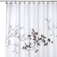 """Adelaide 72"""" W x 72"""" L Fabric Shower Curtain - Grays with browns, I can do that."""