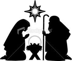 Nativity Silhouettes Royalty Free Stock Vector Art Illustration