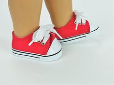 AGD Palace  for 18 American Girl Doll Clothes Sports Casual Red Tieup Shoes Boots >>> Click on the image for additional details.Note:It is affiliate link to Amazon.