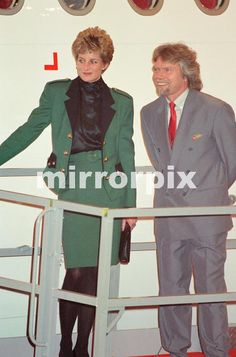 December 6 1993 Princess Diana at the launching ceremony of the First Airbus A340 of Virgin Airways. ''The Lady In Red''
