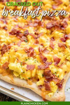 Breakfast Casserole Easy, Breakfast Pizza, Breakfast Dishes, Breakfast Time, Breakfast Sandwiches, Figs Breakfast, Chicken Breakfast, Mexican Breakfast Recipes, Brunch Recipes