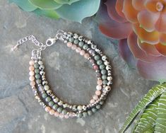 Rustic Boho Bracelet for Her - Bohemian Jewelry - Boho Bracelet Ideas - Earthy Layered Bracelet - Gemstone Bracelet for Women - Multistrand by lelizabethjewelry on Etsy https://www.etsy.com/listing/534681160/rustic-boho-bracelet-for-her-bohemian