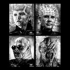 Prints 11x14  Cenobites  Hellraiser Cenobite Horror by chuckhodi