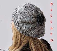 Beauty Crochet Pattern  CROCHET SLOUCH FRENCH BERET PATTERN Boinas f03241da07f