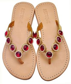 Ruby Slippers Jeweled Sandals Mystique
