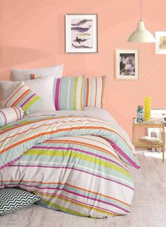 Lenjerie de Pat Single - Line Single Line, Comforters, Blanket, Bed, Home, Quilts, Blankets, Stream Bed, House