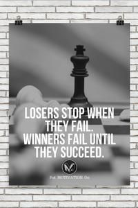 Don't give up and be a winner