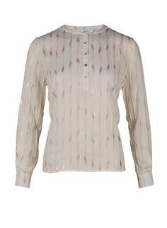 PLISSeret skjorte - creme