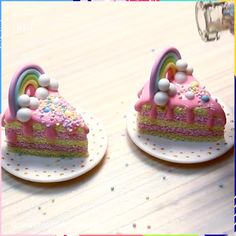 Hottest Images Polymer Clay Crafts food Popular Not sure if these can satisfy your sweet tooth, but you can use them as appetizers instead 😍 Polymer Clay Cake, Polymer Clay Miniatures, Fimo Clay, Polymer Clay Charms, Fimo Kawaii, Polymer Clay Kawaii, Crea Fimo, Cute Clay, Tiny Food