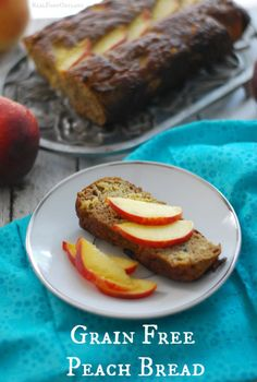 Grain Free Peach Bread with Cinnamon and Cardamom - Real Food OutlawsReal Food Outlaws