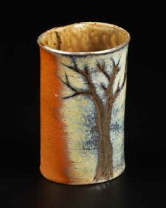 I made a cup like this with a tree on it. Wasn't this awesome, sadly.