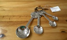 Ganz Measuring Spoons Set - Fall/Thanksgiving by Ganz. $14.89. Detailed design on both the front and back. Dishwasher top rack safe. Provide a unique combination of style and function. Whimsical and adorable set of antique-style Ganz measuring spoons. Perfect gift for almost any cook, bride, birthday or house warming. Bring some fun into the kitchen with this adorable and whimsical set of antique-style Ganz measuring spoons. This is the perfect gift for almost any ...