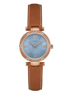 Tan and Rose Gold-Tone Petite Watch