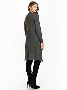 Onlcelestine L/S Ultra Long Cardiga - Only - Dark Grey - Jumpers & Cardigans - Clothing - Women - Nelly.com