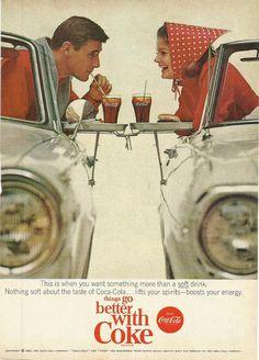 Coca Cola Original 1965 Vintage Print Ad Color by VintageAdarama, $9.99