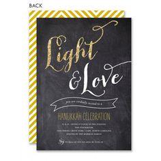 Light, Love & Sparkle Hanukkah Invitation