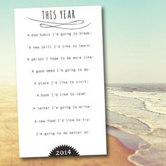 Good idea to start of each year. Start your year off purposefully with these prompts from Jones Design Co.