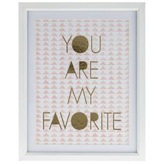You are My Favorite Framed Art