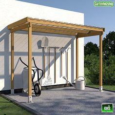 Unterstand Überdachung für Gartengeräte, Grill, Brennholz oder Fahrräder in Garten & Terrasse, Gartenbauten & Sonnenschutz, Gartenhäuser & Geräteschuppen   eBay