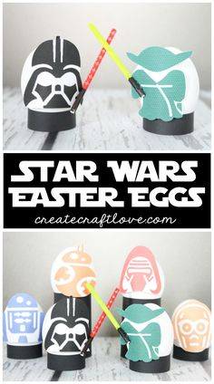 These Star Wars Easter Eggs are exactly what you were looking for! Free printable + tutorial for the lightsabers.