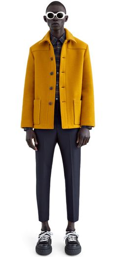 Markus British style donkey coat with a modern, narrow fit #AcneStudios #FW15 #menswear