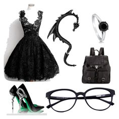 """""""spooky chique"""" by winckels-anniek ❤ liked on Polyvore featuring BERRICLE and Proenza Schouler"""