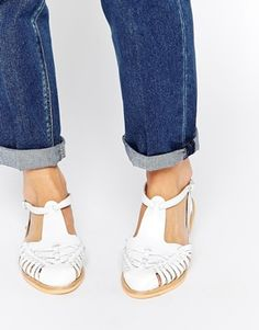 ASOS JAYNE Leather T Bar Shoes