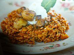 un mondo di ricette: riso integrale - al caprino e castagne