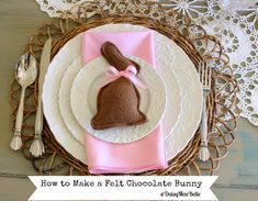 How to Make a Felt Chocolate Bunny