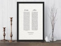 His and Her, Wedding Vow Print, year Anniversa Modern Wedding Vows, Wedding Vow Art, Beach Wedding Invitations, Wedding Frames, Wedding Ceremony, Wedding Gifts, Destination Wedding, Wedding Gift Husband, Wedding Vows For Her