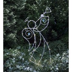 Wind & Weather Solar LED-Lighted Holiday Angel Garden Stake