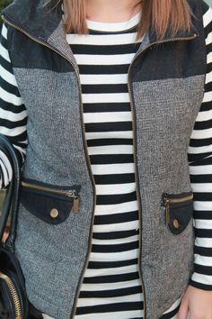 Tweed vest womens