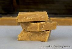Peanut Butter Fudge  #justeatrealfood #wholefoodsimply