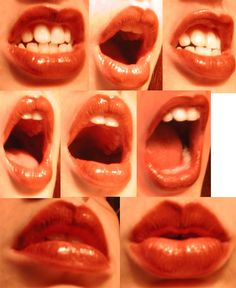 Reference Images for Artists: Photo lips references