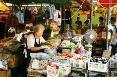 Wanchai street vendor selling preserved eggs