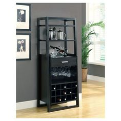 This Ladder Style Cappuccino Bar Storage Cabinet features a sleek design that makes it stand out. You'll love the style and storage provided by this piece! Corner Liquor Cabinet, Bar Storage Cabinet, Wine Storage, Cabinet Ideas, Small Bar Cabinet, Display Cabinets, Office Storage, Bar Furniture For Sale, Home Bar Furniture