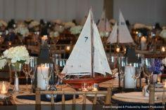 Planned, Designed & Produced by www.swankproductions.com   Nautical Inspired Wedding - Montauk Yacht Club NY  #wedding #nautical #boat #candles #swank