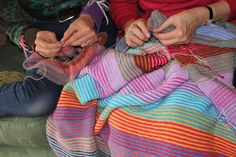 Knitting With Mother.