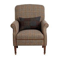 The Harris Tweed Bowmore Chair - British Tetrad Harris Tweed Furniture