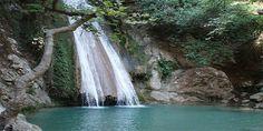 Beautiful waterfalls in Greece Arcadia Greece, Gate Of Hades, The Holy Mountain, Places In Greece, Virtual Field Trips, Honeymoon Places, Greece Islands, Walkabout, Beautiful Waterfalls